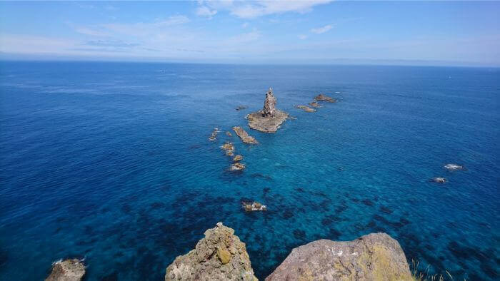 神威岩 岬の端から一望できる景色