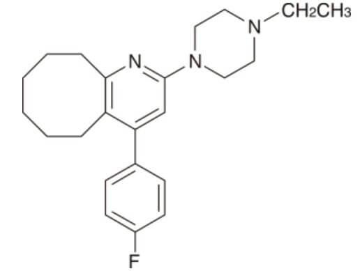 ロナセン(ブロナンセリン)構造式