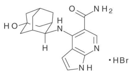 ペフィシチニブ臭化水素酸塩構造式