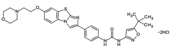 キザルチニブ塩酸塩の構造式