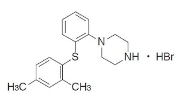 トリンテリックス錠(ボルチオキセチン)の構造式